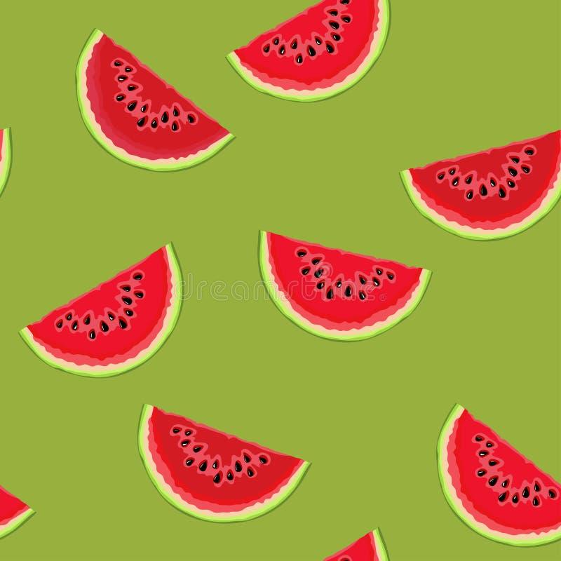 Wassermelonenmuster lizenzfreie abbildung