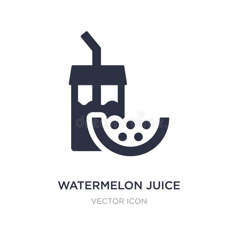 Wassermelonensaftikone auf weißem Hintergrund Einfache Elementillustration vom Getränkkonzept lizenzfreie abbildung