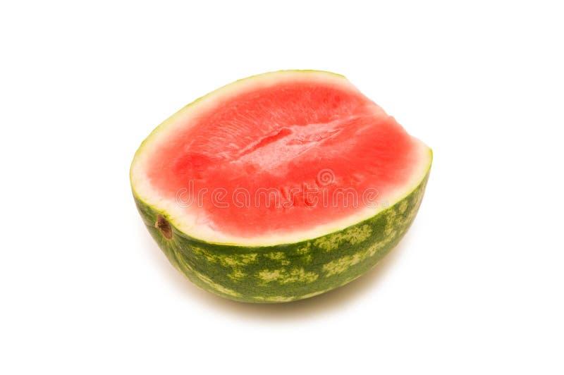 Wassermelonescheibe getrennt stockfotos
