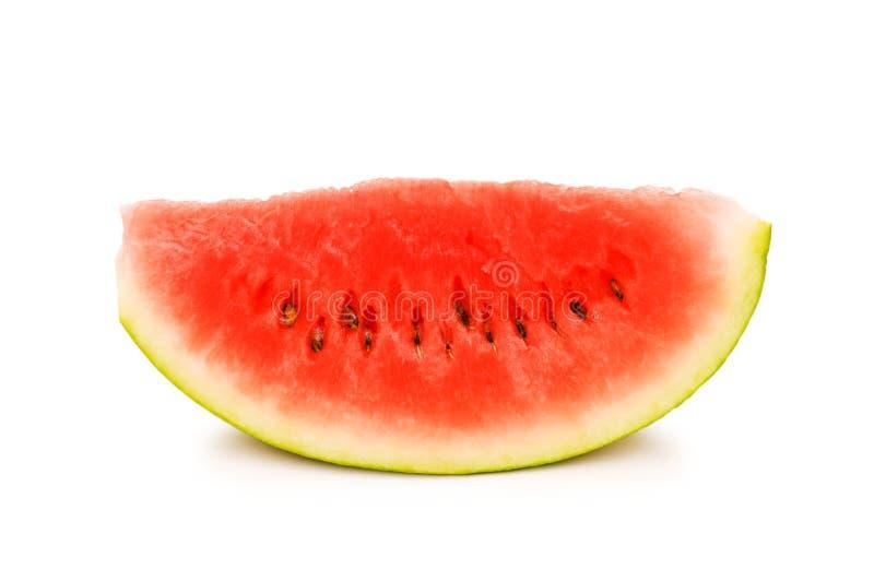 Wassermelonescheibe getrennt stockbild
