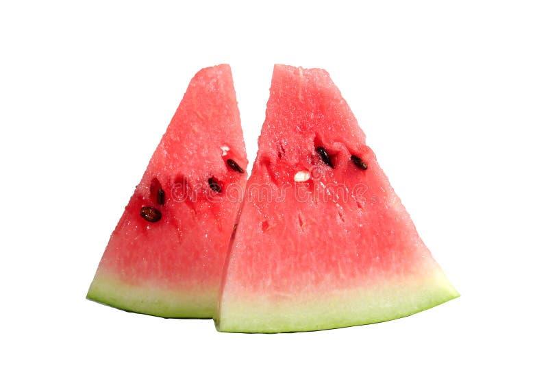 Wassermelonestücke stockfoto