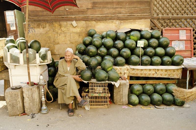 Wassermeloneverkäufer Kairo Ägypten stockfoto