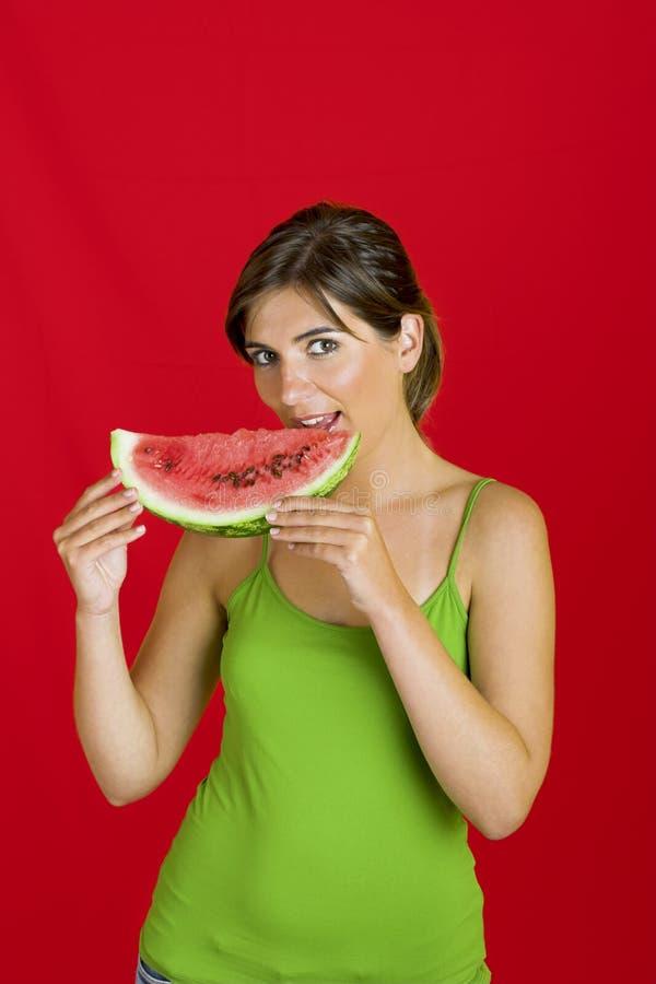 Wassermelonewunsch lizenzfreie stockbilder