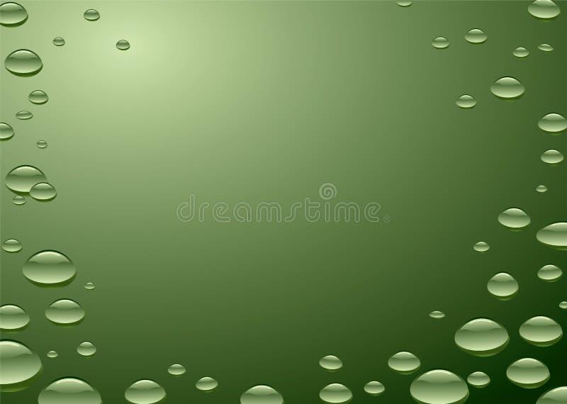 Wasseroberflächengrün lizenzfreie abbildung