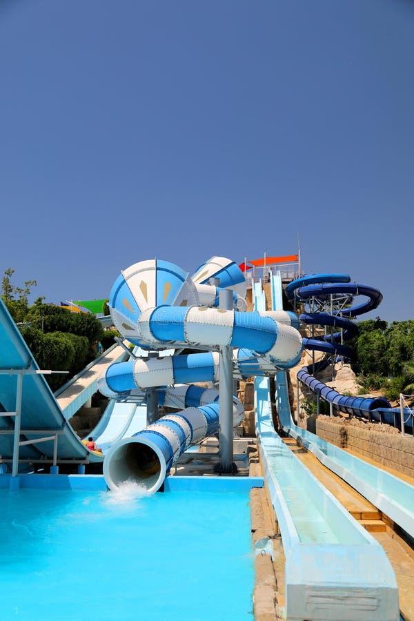 Wasserpark in den paphos Zypern stockbilder