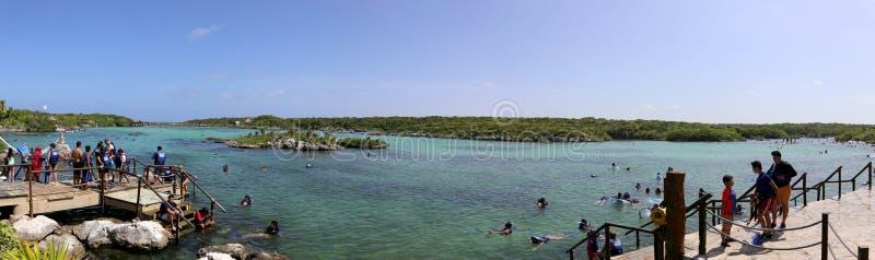 Wasserpark Xel ha stockfoto