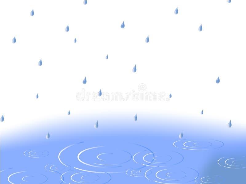 Wasserpool im Regen stock abbildung