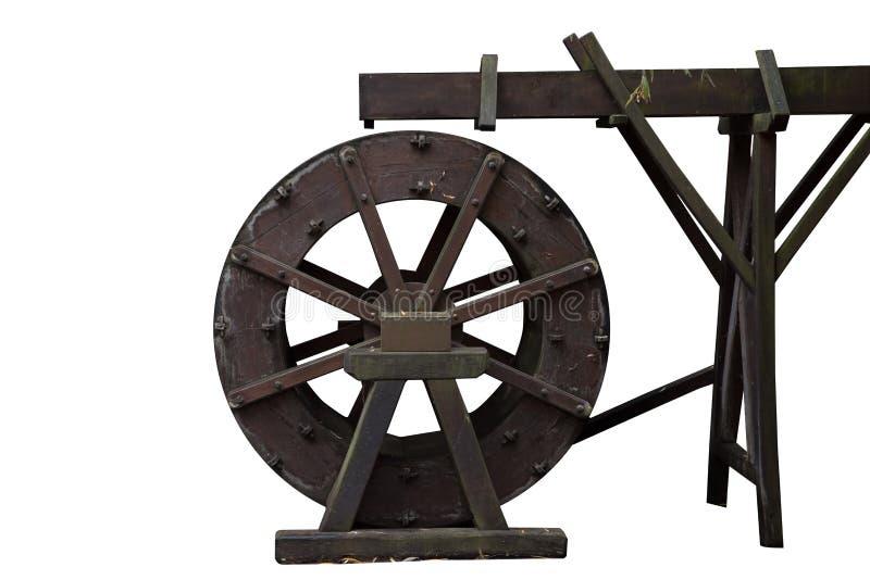 Wasserrad lokalisiert auf Weiß lizenzfreie stockfotografie