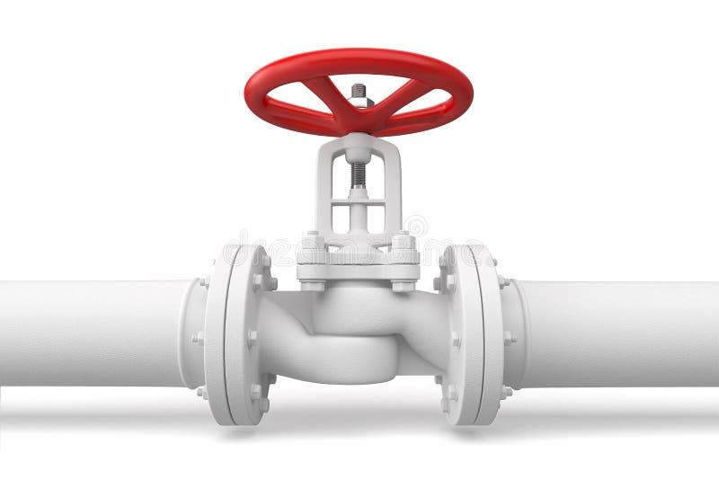 Wasserrohrleitung mit Ventil lizenzfreie abbildung