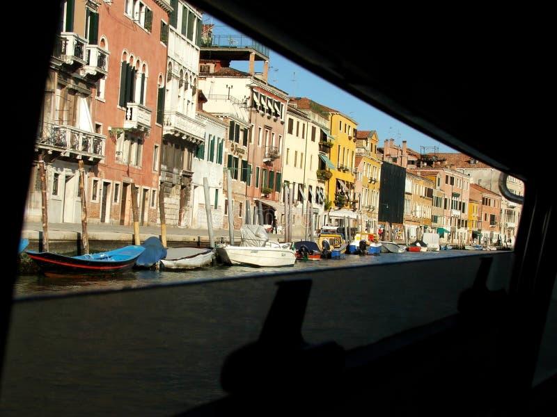 Wasserrollen in Venedig stockbild