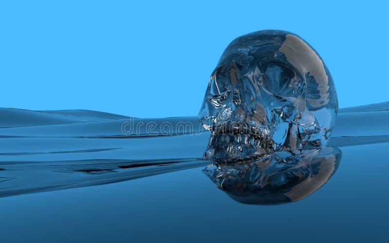 Wasserschädel stock abbildung