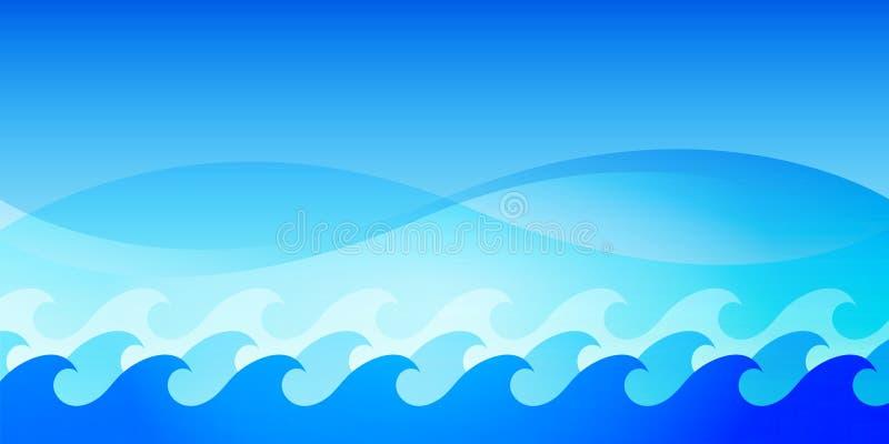 Wasserschablonenhintergrund stock abbildung