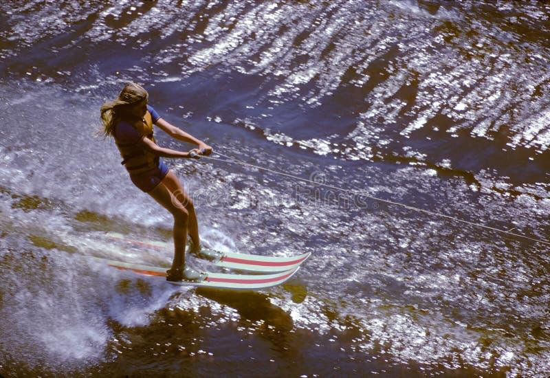 Wasserskifahren stockfoto