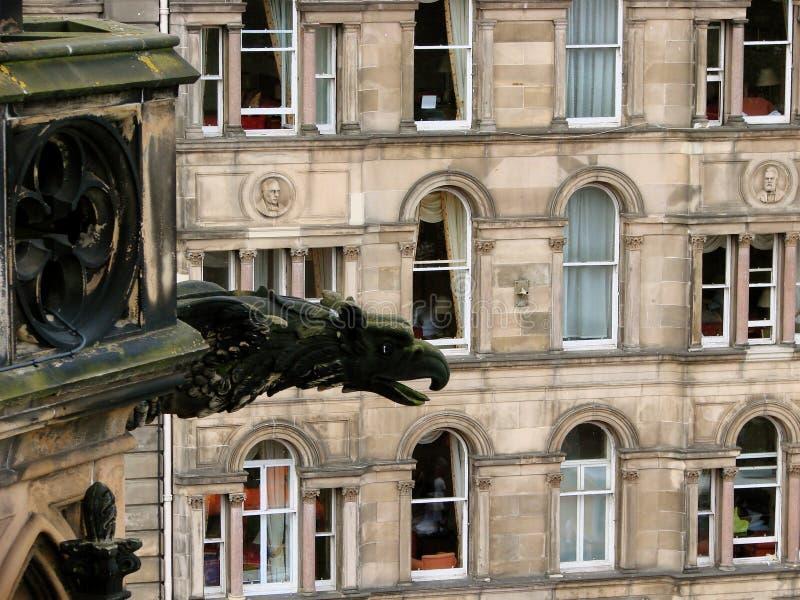 Wasserspeier über Edinburgh lizenzfreies stockbild