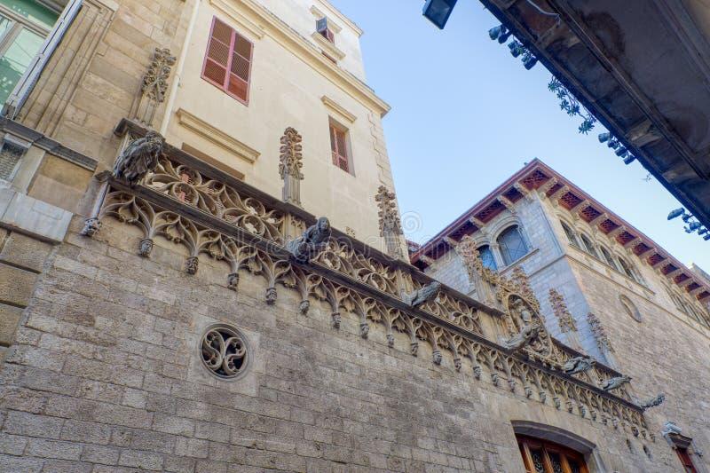 Wasserspeier im gotischen Barrio Barcelona lizenzfreies stockbild