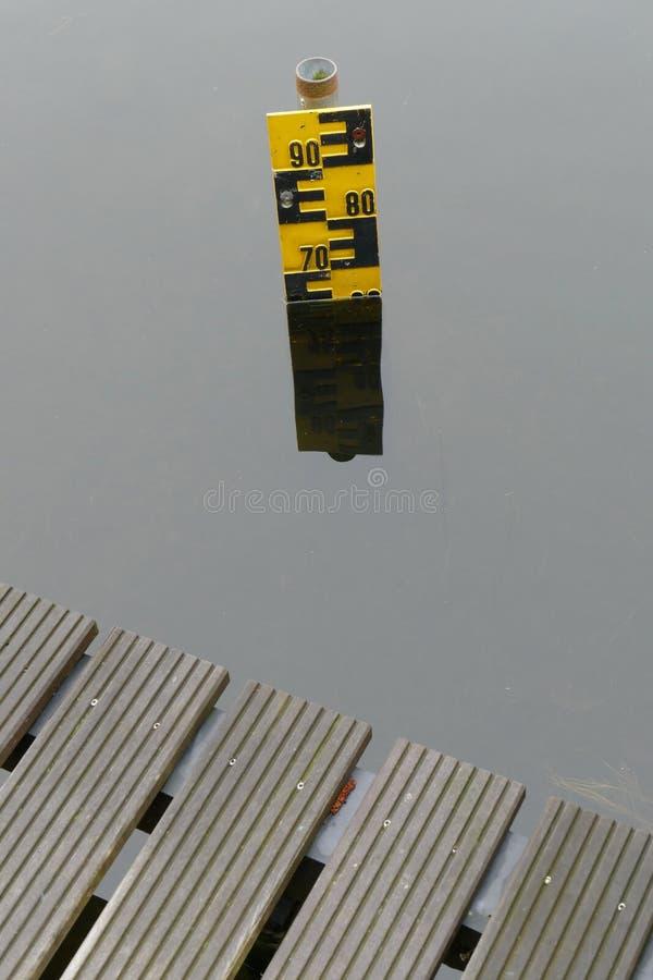 Wasserspiegelindikator stockbild