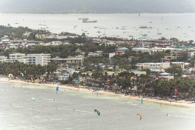 Wassersport auf Boracay-Insel auf Philippinen lizenzfreies stockfoto