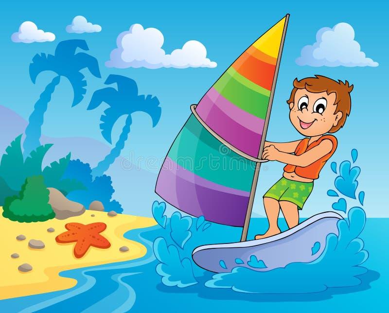 Wassersport-Themabild 2 lizenzfreie abbildung