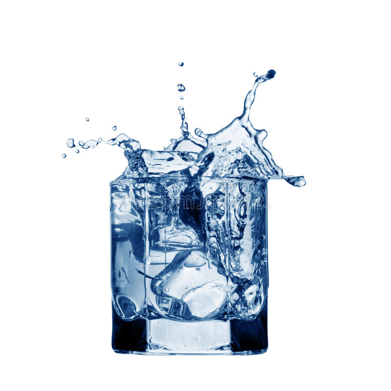 Wasserspritzen auf Glas lizenzfreie stockfotografie