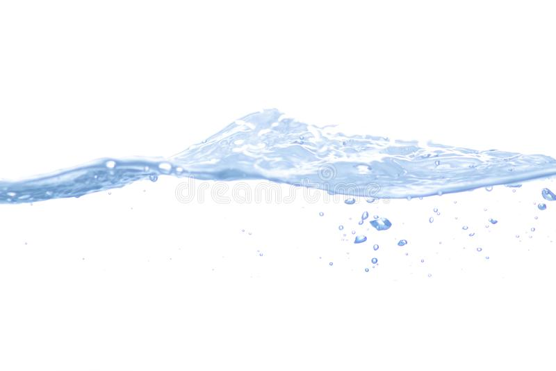 Wasserspritzen getrennt stockfotografie