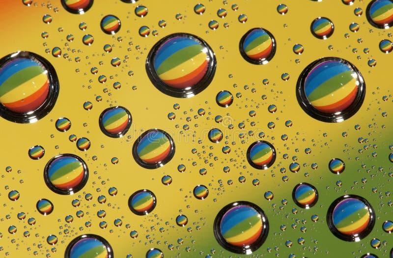 Wassertropfen, Abstraktion lizenzfreie stockfotografie