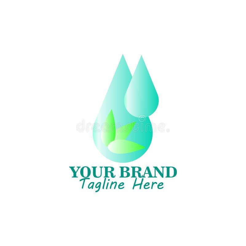 Wassertropfen Logo Template-Vektorillustrationsdesign stock abbildung