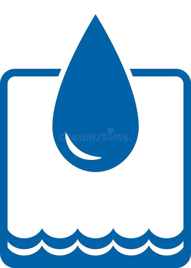 Wassertropfen und -welle lizenzfreie abbildung