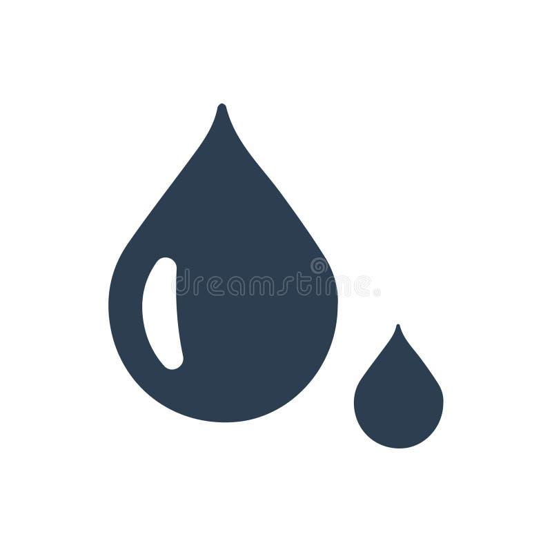 Wassertropfenikone vektor abbildung