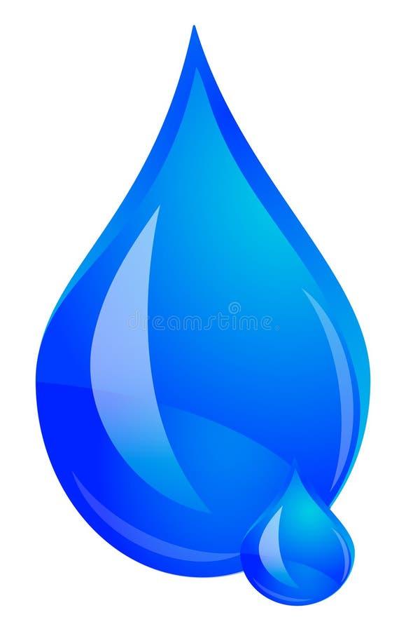 Wassertropfenlogo stock abbildung