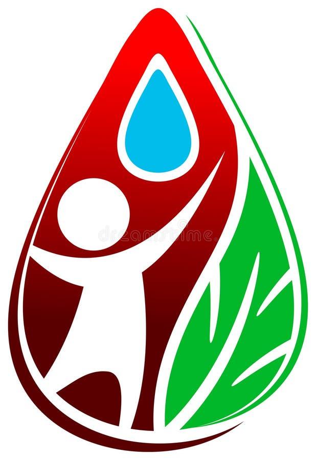 Wassertropfenzeichen lizenzfreie abbildung