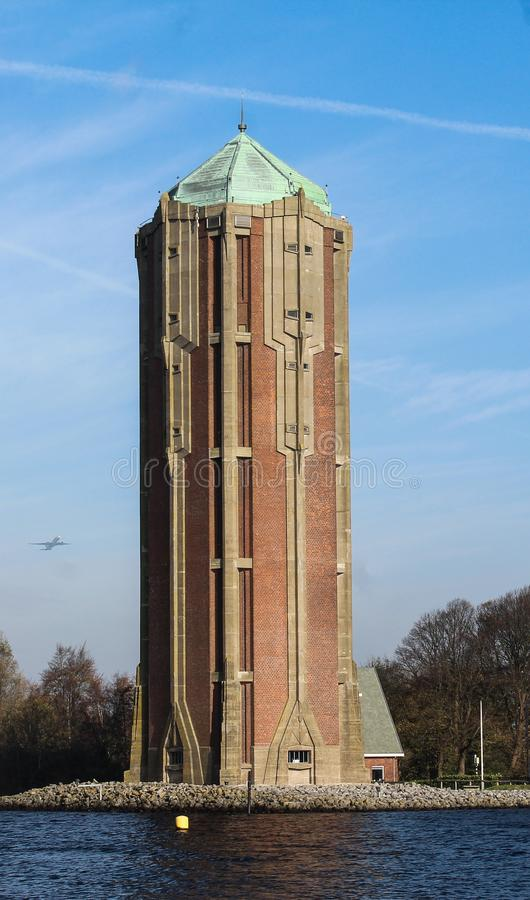 Wasserturm aalsmeer, in den Niederlanden stockfotografie