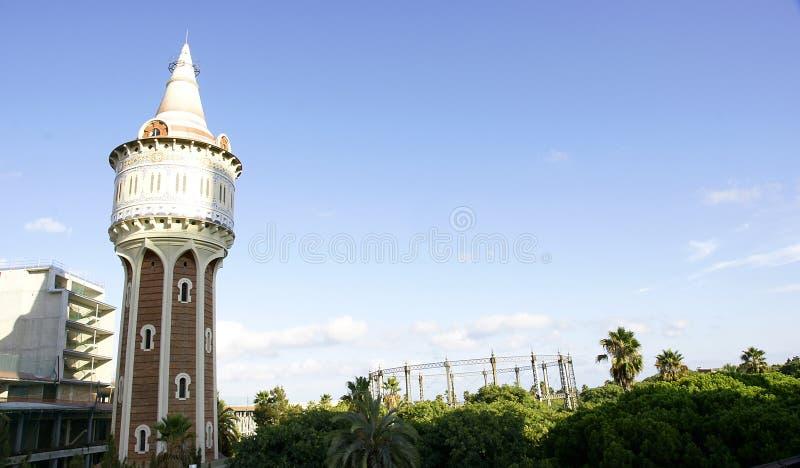 Wasserturm im Park stockfoto