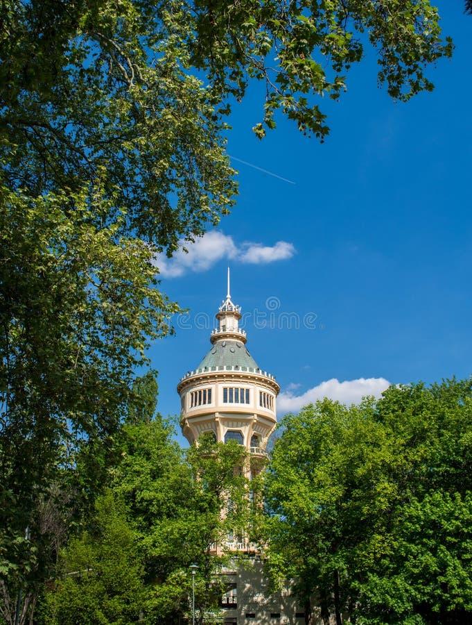 Wasserturm in Margaret Island, Budapest lizenzfreies stockfoto