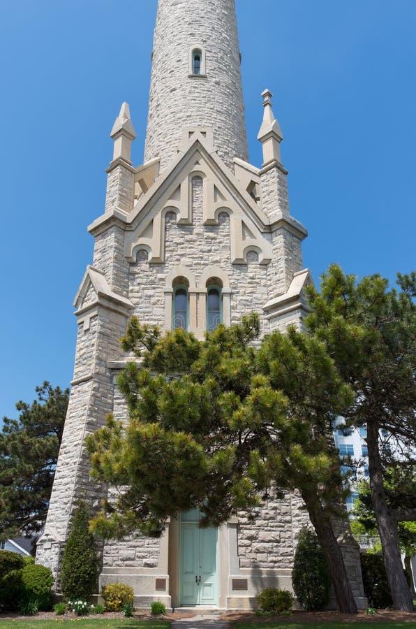 Wasserturm und Eingang in Milwaukee lizenzfreie stockbilder