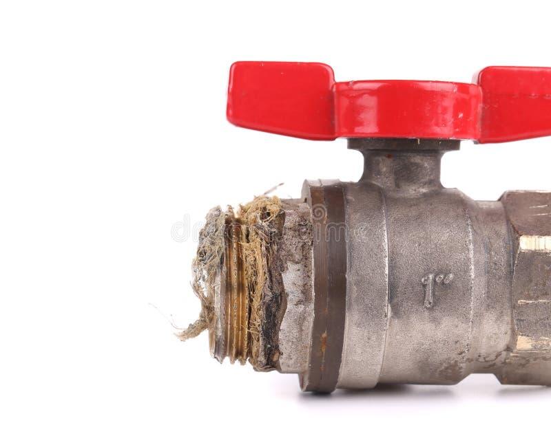 Wasserventilabschluß oben lizenzfreies stockbild