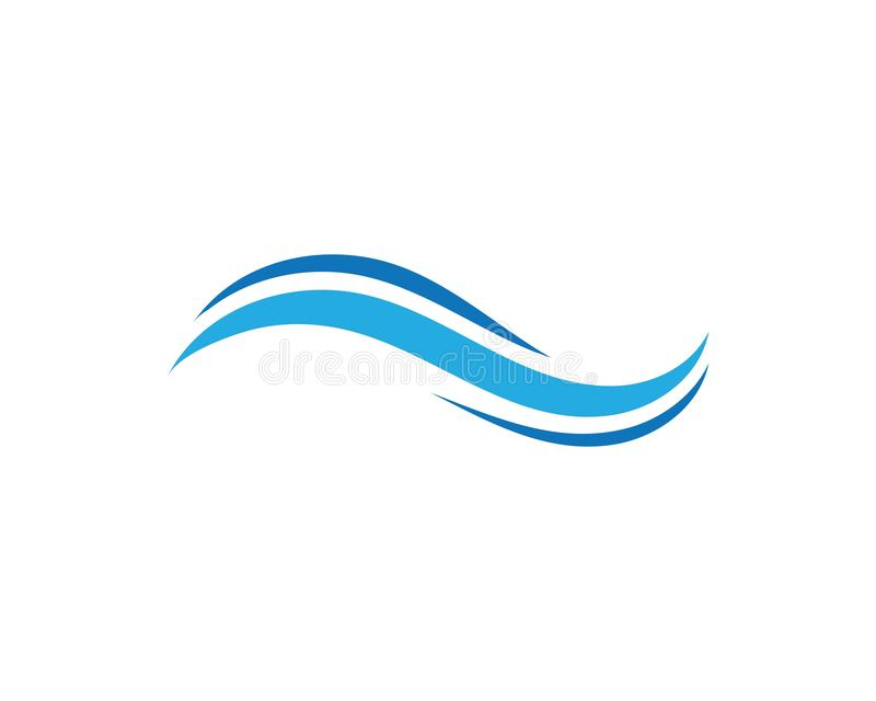 Wasserwellen-Ikonenvektor stock abbildung
