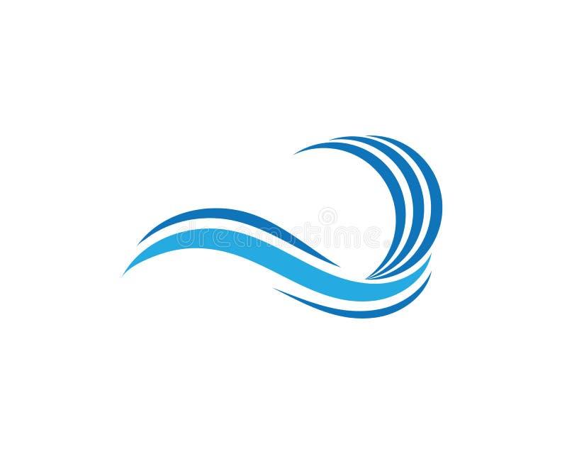 Wasserwellen-Ikonenvektor lizenzfreie abbildung