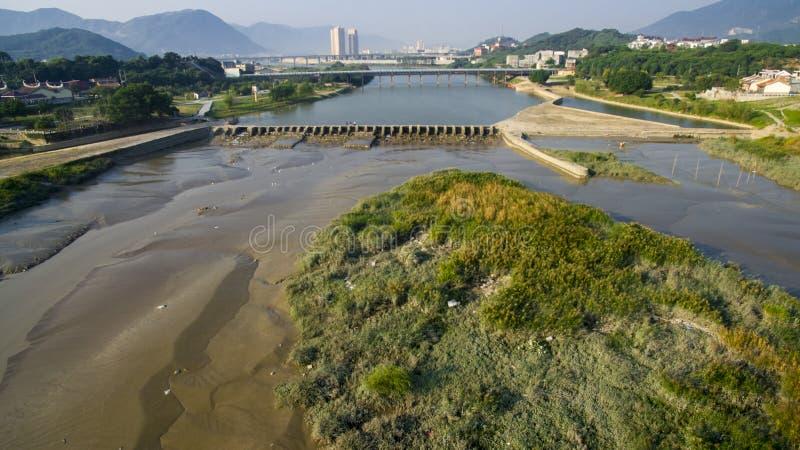 Wasserwirtschaftsprojekt Mulan Shan stockfotos
