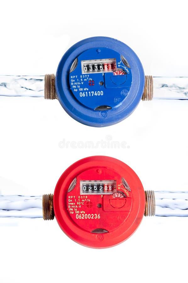 Wasserzählwerke lizenzfreie stockfotografie