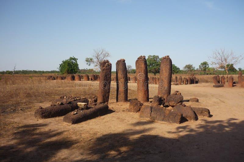 Wassu-Steinkreise, Gambia lizenzfreie stockfotos