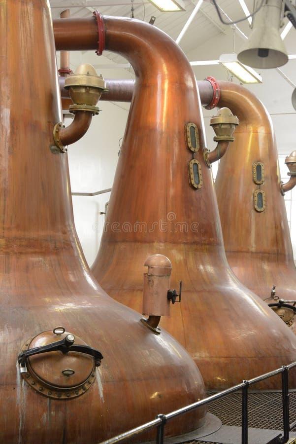Wast cisze używają w destylaci Szkocki Słodowy whisky obrazy royalty free