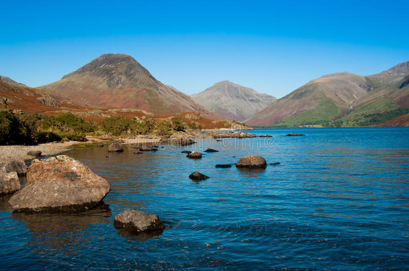 Download Wast Water shoreline stock photo. Image of tourism, wasdale - 16473636