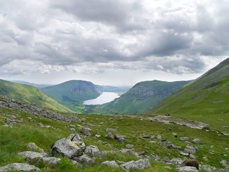 Wast woda od bazy Wielki szczyt, Jeziorny okręg fotografia stock