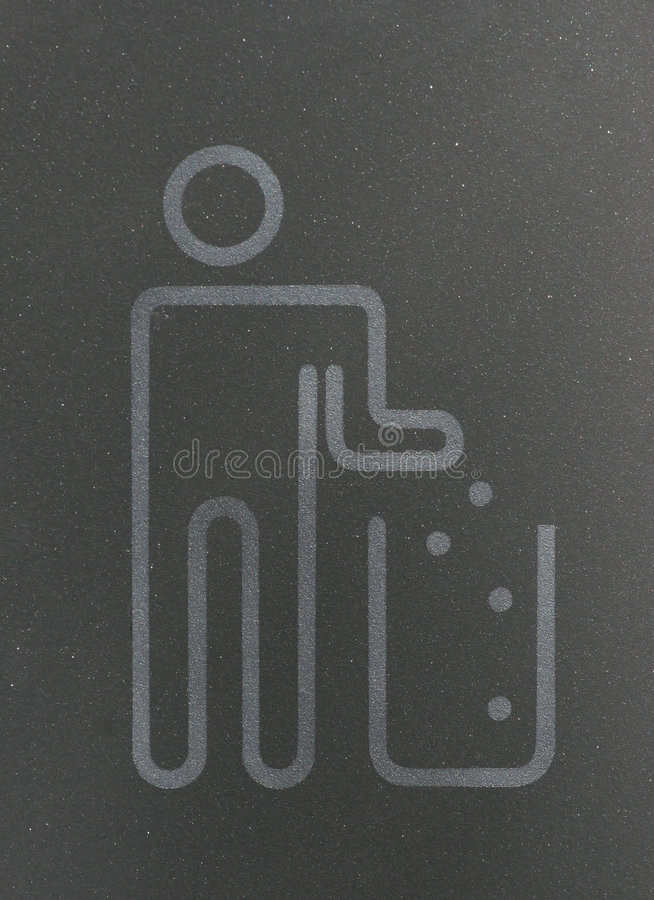 Waste. Symbol - a man drop waste in a bin stock photography