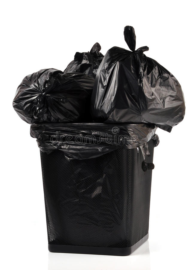 Waste bags stock image