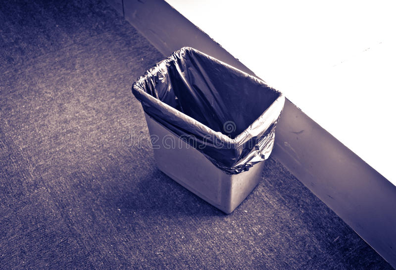 Download Waste basket stock photo. Image of abstract, black, office - 22240394