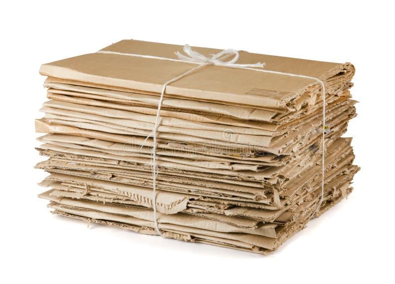 Waste cardboard stock photo