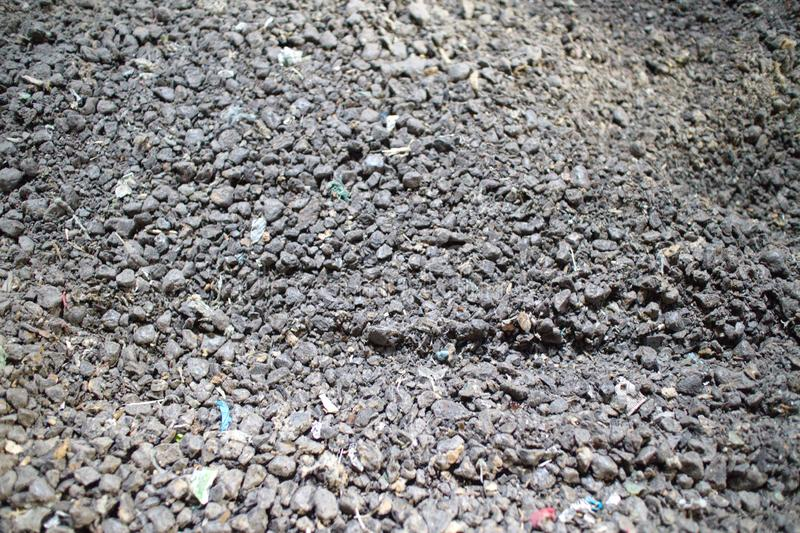 Waste fuel briquettes. Recycling, fuel briquettes, waste, material garbage stock photos