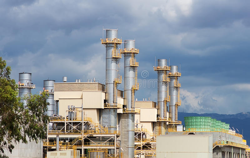 Waste incinerator plant. royalty free stock photo