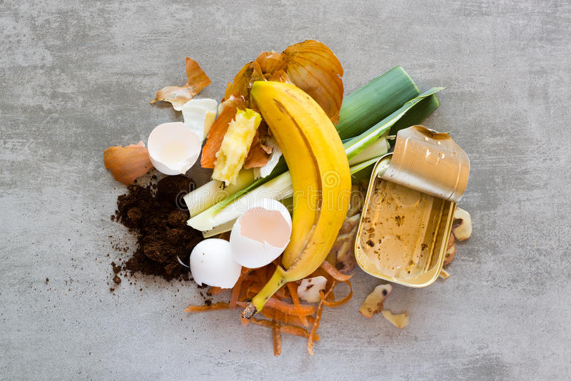 Waste from the kitchen stock photos